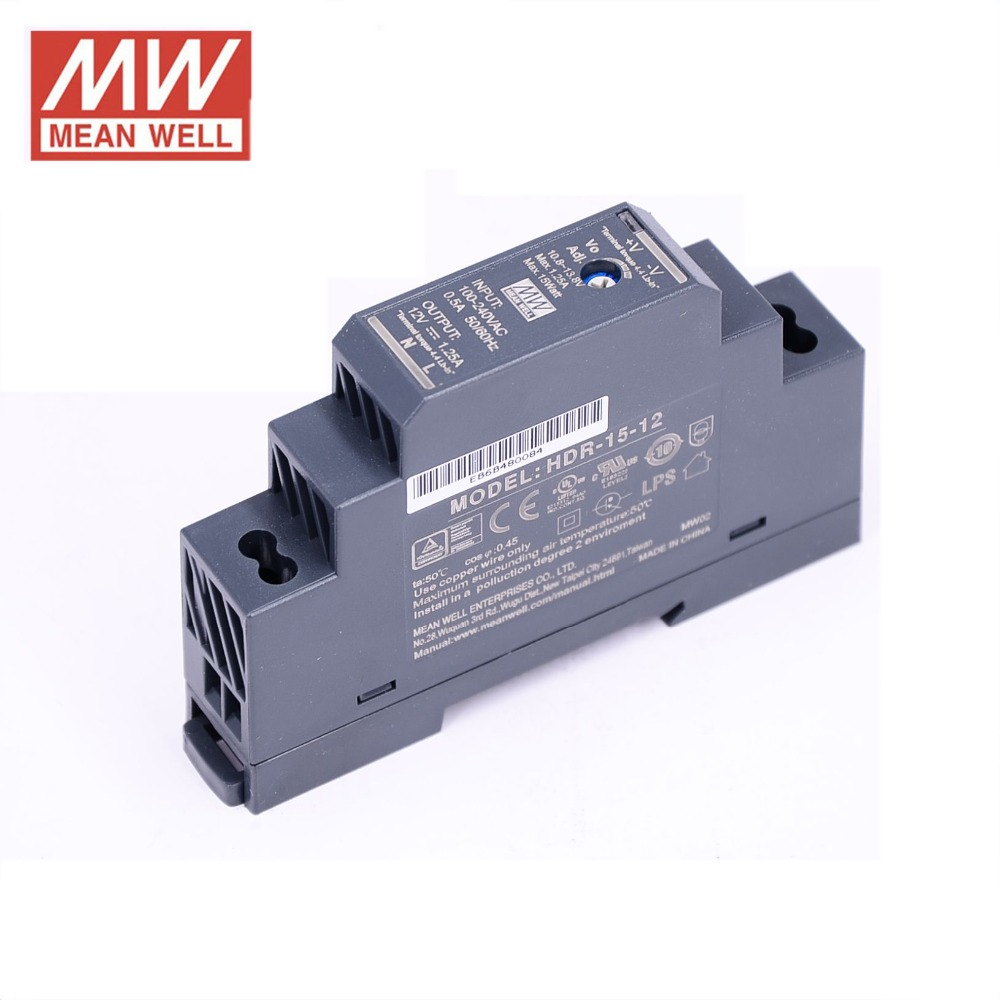 Brand: New Utini Wholesale Price Mean Well HDR-30-12 12V 2A meanwell HDR-30 24W Single Output Industrial DIN Rail Power Supply