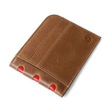 Fashion Cards Organizer Wallets Brand Vintage Genuine Leather Cowhide Slim Women and Men's Purse Card Holder With Cash Pocket