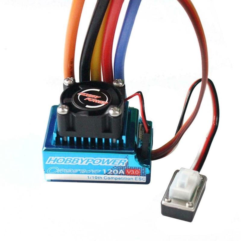 1 قطعة HP 120A V3.0 الاستشعار فرش ESC Hobbypower الإلكترونية سرعة المراقب المالي ل RC سيارة نموذج 1/8 1/10 سباق الانجراف سيارة DIY Acc-في قطع غيار وملحقات من الألعاب والهوايات على  مجموعة 1