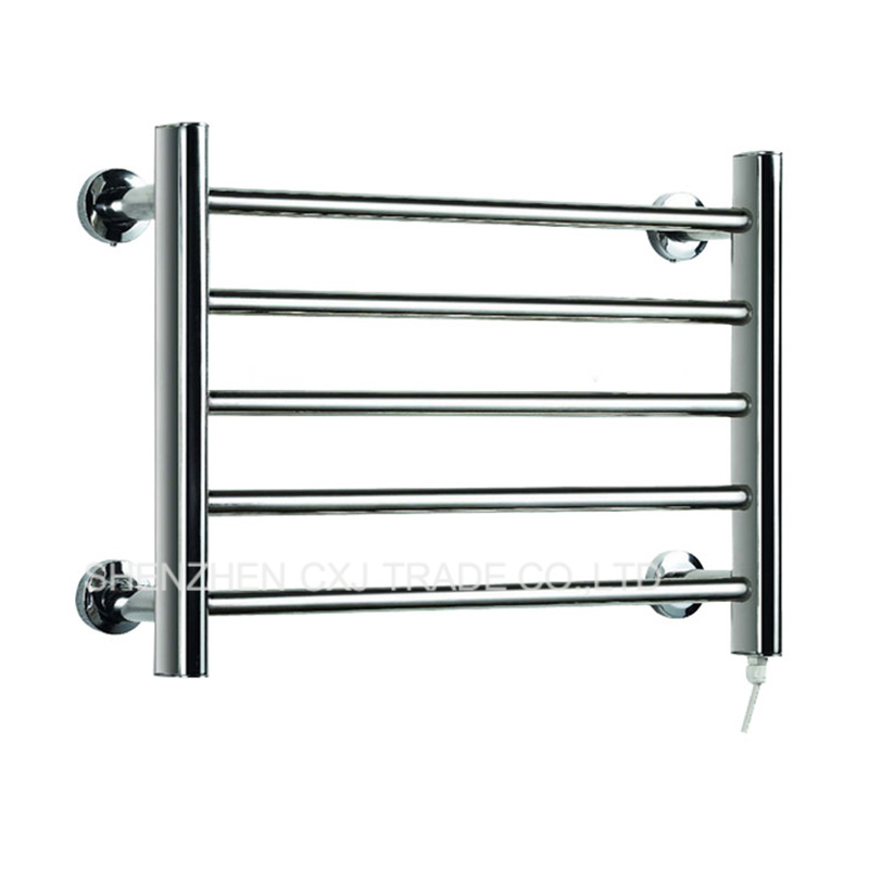 2pcs Heated Towel Rail Holder Bathroom AccessoriesTowel Rack Stainless Steel ElectricTowel Warmer Towel Dryer & Heater Banheiro