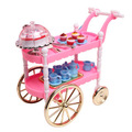case for barbie kitchen furniture doll food girl toy furniture accessories Siwan cake car dining car