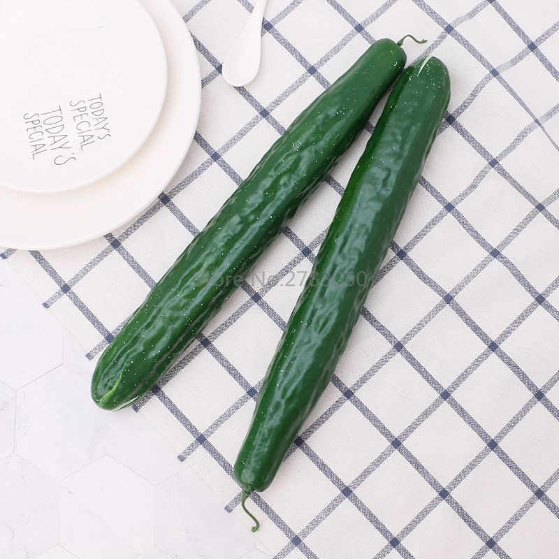1Pc Lifelike Artificial Cucumber Simulation Fake Vegetable Photo Props Home Kitchen Party Decoration Kids Teaching Toy