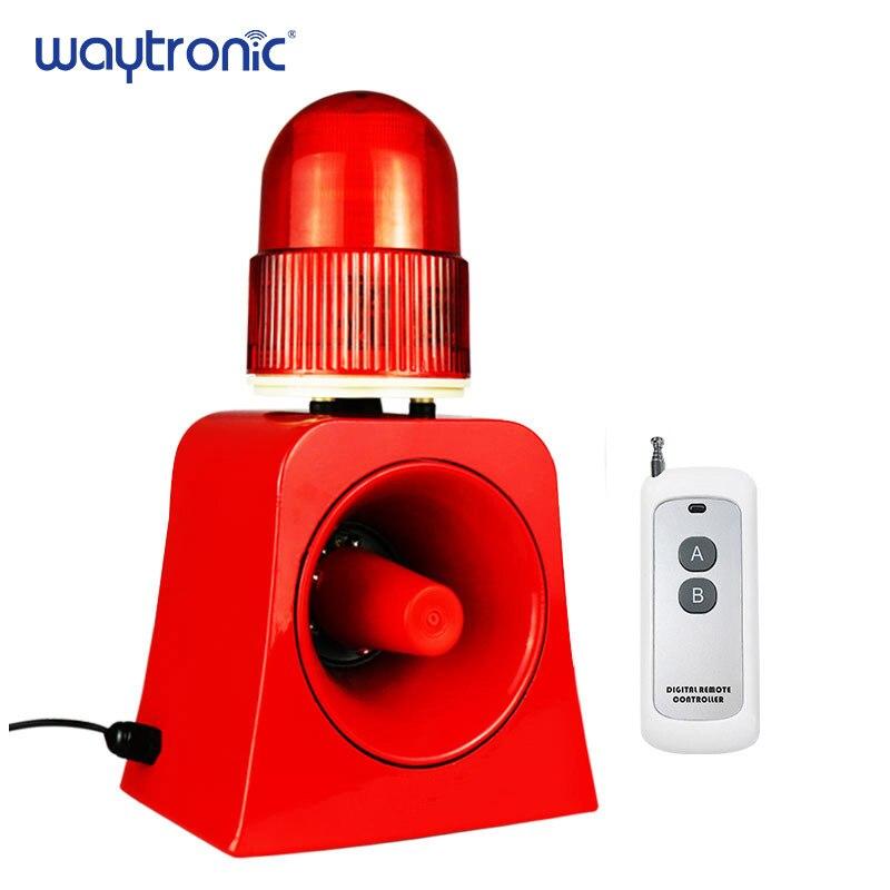 Industrial Dispositivo de Alarme Sonoro e Visual 100 m Controle Remoto Sem Fio Sirene de Som Beacon com Porta USB