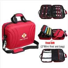 Große Größe Leere First Aid Kit Tasche Wasserdicht Medical Bag Erste Hilfe Notfall Kit für Home Fabrik Krankenhaus (42x31x20 cm)