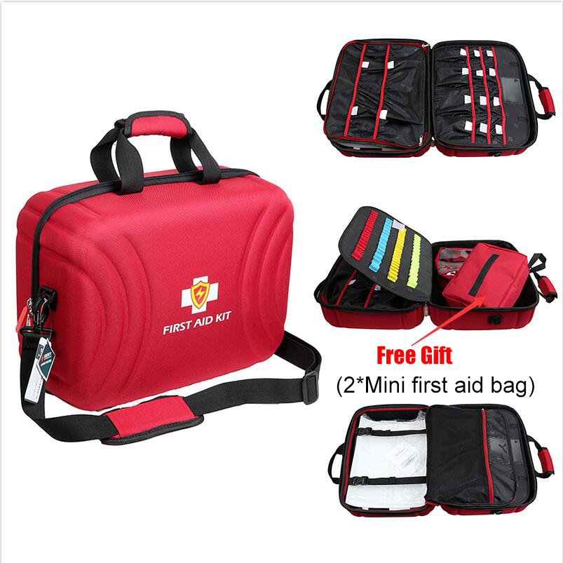 Large Size Empty First Aid Kit Bag Waterproof Medical Bag First Aid Emergency Kit For Home Factory Hospital(42x31x20cm)