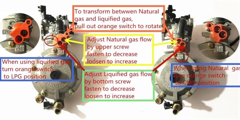 Cheap dual fuel carburetor
