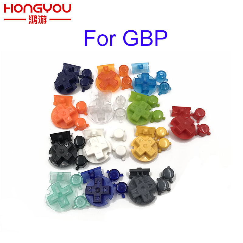 Colorful Replacement Buttons Set Replacement For Gameboy Pocket GBP On Off Button AB Buttons D Pads