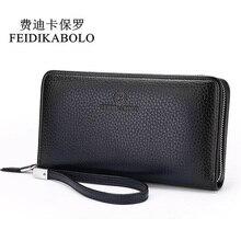 Módní luxusní pánská kožená peněženka Pánská spojka na peněženku Handy Tašky Business Carteras Mujer Peněženky Muži Černá Hnědá Dollar Cena
