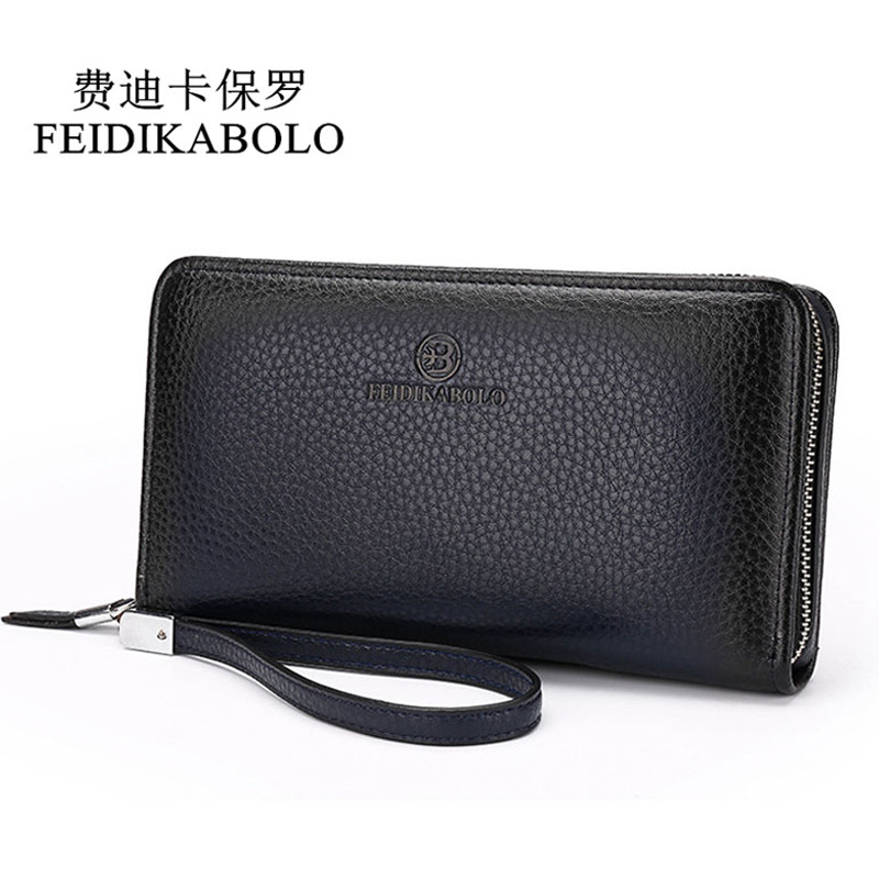Mode Luxus Männlichen Leder Geldbörse Kupplung Brieftaschen Handliche Taschen Business Carteras Mujer Brieftaschen Männer Schwarz Braun Dollar Preis