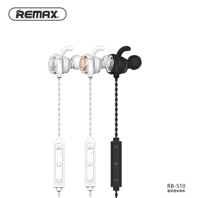 Remax RB-S10 neck mounted Bluetooth headset magnetic adsorption design HD multipoint connection v4.1 earphone