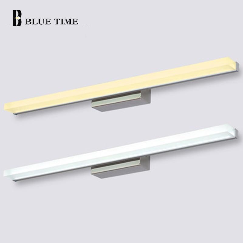 40cm 60cm 80cm 100cm 120cm Modern stílusú fürdőszoba tükör elülső lámpa fali LED-es fürdőszoba tükör LED fali lámpa 110V