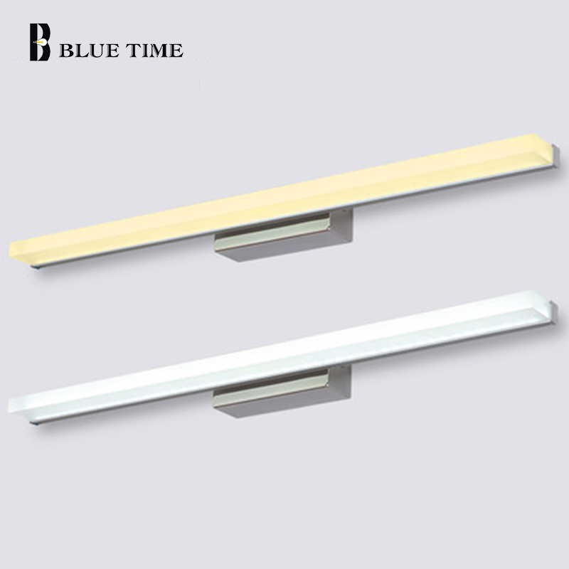 40cm 60cm 80cm 100cm 120cm Μοντέρνο στυλ Μπάνιο καθρέπτης μπροστινό φως τοίχο τοποθετημένο LED καθρέφτη μπάνιου οδήγησε φως τοίχο λαμπτήρα 110V