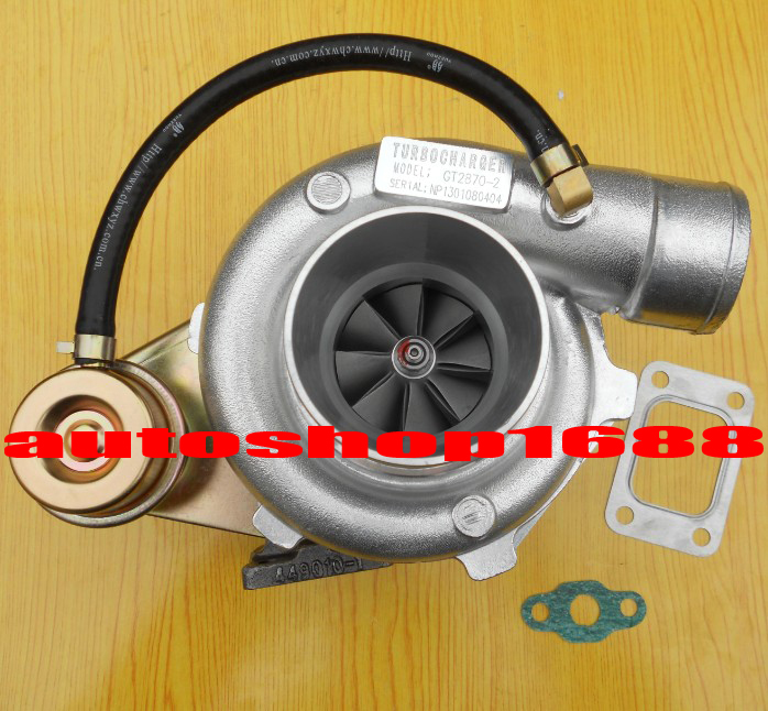 GT2870-2 GT28 GT2871 Compressor Ar.60 Turbine Ar.64 T25 Flange Oil Cooled 5 Bolt With Actuator 250-400HP Turbocharger Turbo