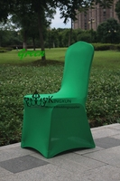 1pcs GREEN Color Wedding Banquet Chair Cover \ Lycra Spandex Chair Cover For Wedding