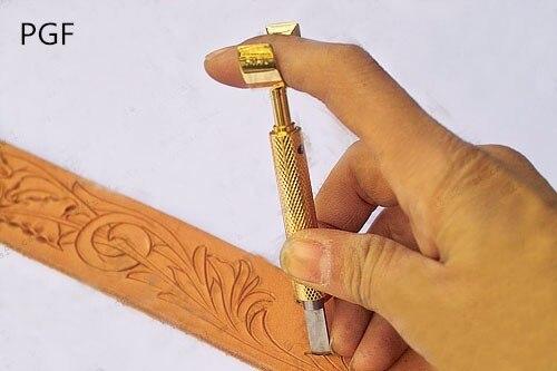 PGFsheridan stil 9,6 mm mässingsark snidade rotationsknivar läder - Konst, hantverk och sömnad - Foto 5