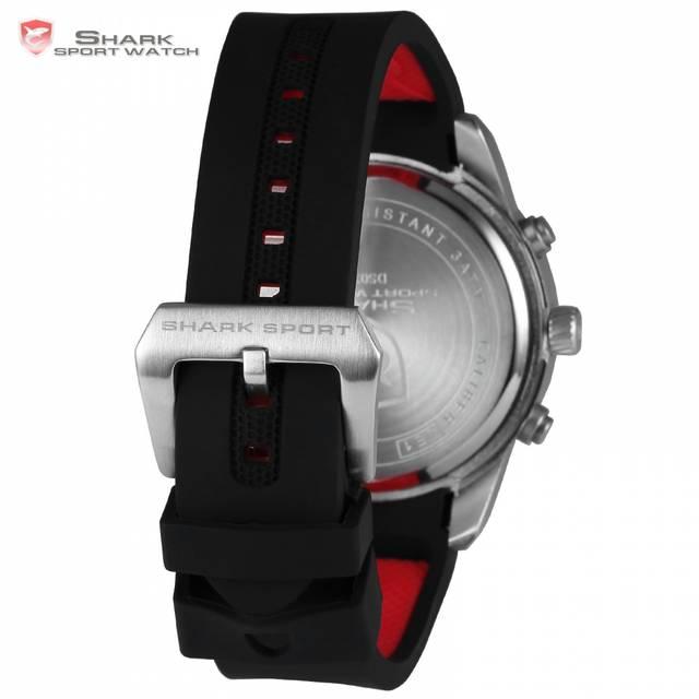 c96ecdf8333 placeholder Sawback anjo shark relógio do esporte novo design levou 3 d  branco caixa de Alarme Duplo