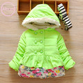 Infant baby cotton-padded Jackets Quilted  coat thicker warm outwears toddle baby winter floral printed jackets