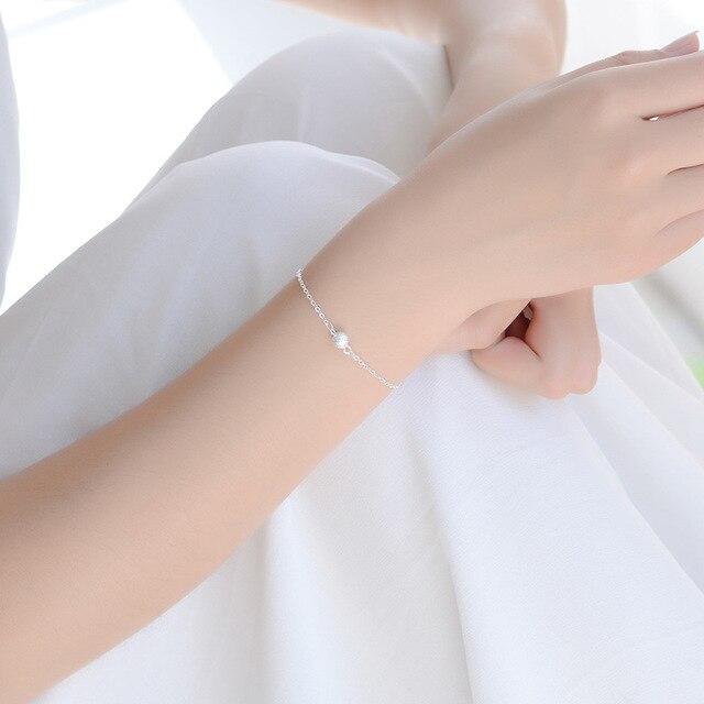 Женский Круглый матовый браслет из серебра 925 пробы