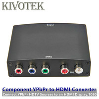 5RCA Component Video YPbPr to HDMI Adapter Converter L/R Audio,HDMI1080p Female Connector For STB DVD PS3 HDTV PCs Free Shipping