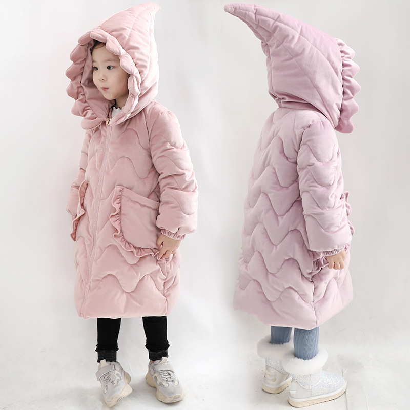 Winter Girls Parka 2018 New Long Outerwear Coat Thick Warm Hooded Velour Girls Jacket RT287
