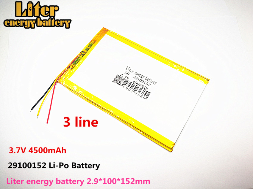 3 Wire The Tablet Battery 3.7V 4500mAH 29100152 Polymer Lithium Ion / Li-ion Battery For Tablet Pc Battery