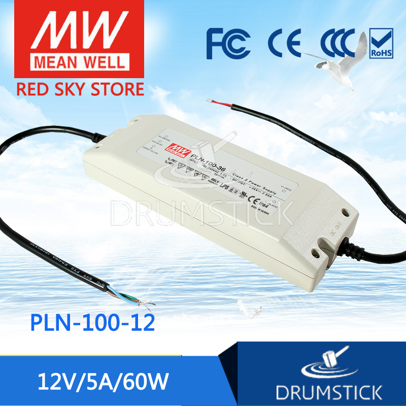 Advantages MEAN WELL PLN-100-12 12V 5A meanwell PLN-100 12V 60W Single Output Switching Power Supply genuine mean well irm 60 12st 12v 5a meanwell irm 60 12v 60w screw terminal style