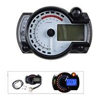 15000 rpm Motorcycle Digital Speedometer Tachometer Odometer Adjustable Motorcycle Speed Meter with Backlight LCD Indicator