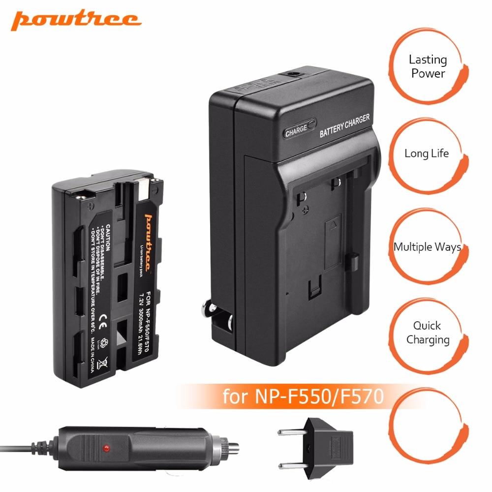 1 Packs 7.2 v 3000 mah Li-ion NP-F550 NP-F330 NP F550 NP F330 Rechargeable Batterie + Chargeur chargeur De Voiture caméra batterie Pour Sony L10