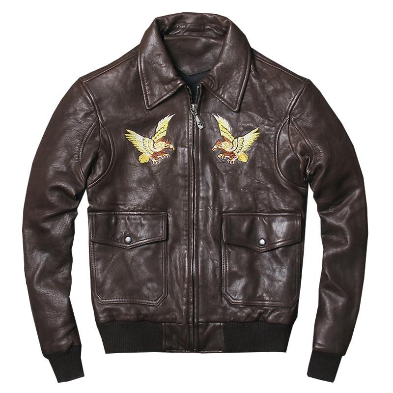 quality design b7f19 f71ec HARLEY-QUETSCHE-Noir-Hommes-Aigle-Broderie-US-AIR-FORCE-Pilote-En-Cuir-Veste -Plus-La-Taille.jpg