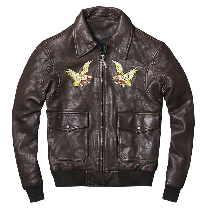 cheap for discount a1f71 ad080 HARLEY-QUETSCHE-Noir-Hommes-Aigle-Broderie-US-AIR-FORCE-Pilote-En-Cuir-Veste-Plus-La-Taille.jpg