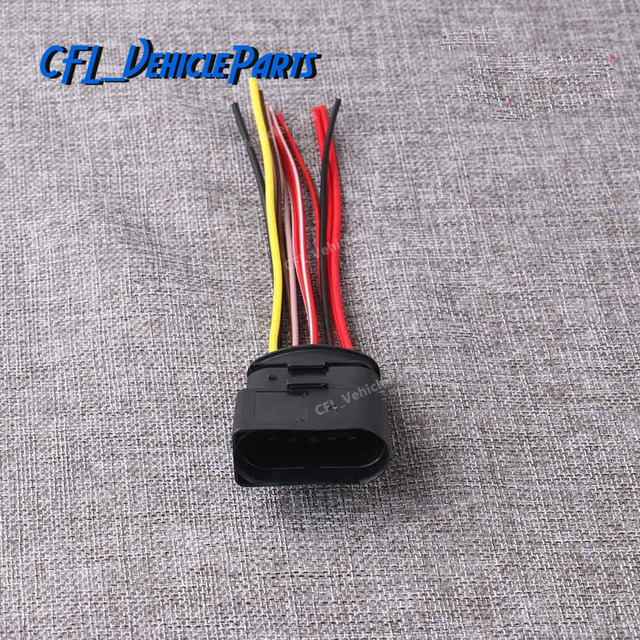 10 pin electric connector housing plug case wiring harness 1j0973835 for vw  golf jetta passat for audi a4 a6 q5 for skoda superb