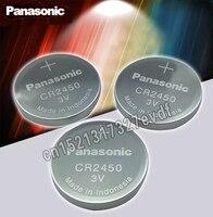 2 uds Original Panasonic CR2450 CR 2450 3V Pila de Botón de Litio pilas para relojes  relojes  audífonos