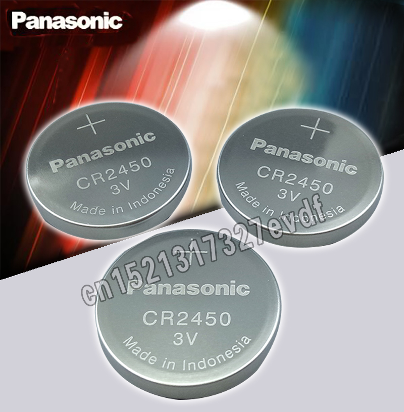 2PCS Original Panasonic CR2450 CR 2450 3V Lithium Button Cell Battery Coin Batteries For Watches,clocks,hearing Aids