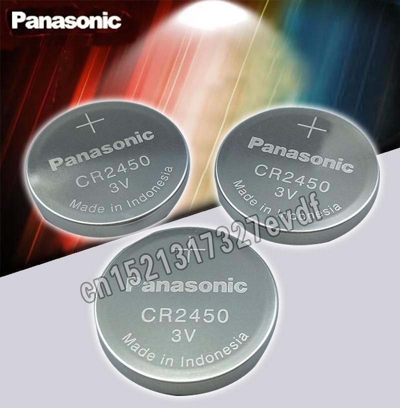 2 шт. оригинальный Panasonic CR2450 CR 2450 3V литиевая кнопка батареи для часов, часов, слуховых аппаратов