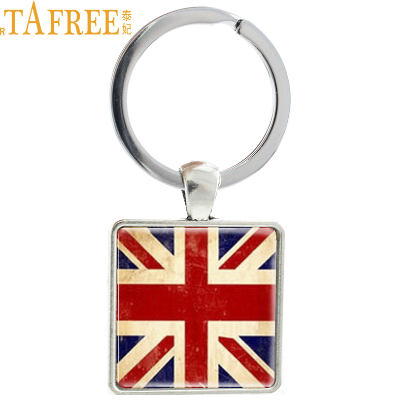 Tafree Винтаж Юнион Джек брелок Англия баннер Великобритании YOOX флаг Мужчины Женщины Флаг Великобритании брелок Jewelry aa102