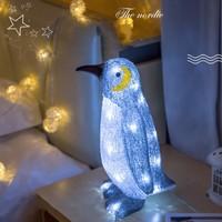3D Visual Light Acrylic LED Penguin Night Lights Home Decor Desktop Table Lamps Children's Room Bedside Lights Holiday Gifts