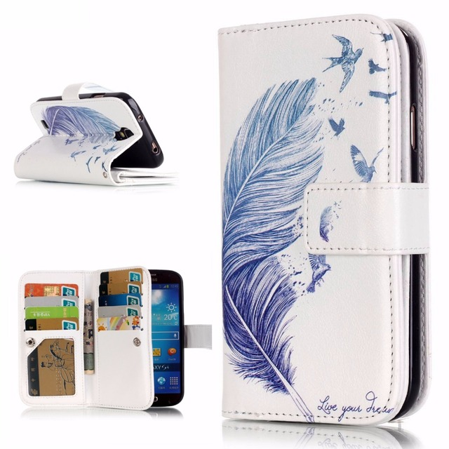 Leather 3D Phone Case & wallet For Samsung Galaxy S4