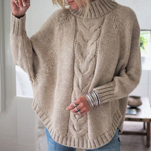 christmas sweater winter clothes women plus size knitted sweaters turtleneck pullovers computer casual batwing sleeve