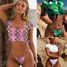 Ariel Sarah 2019 High Neck Bikini Women Thong Bikini Set Bathing Suit Solid Swimwear Swimsuit Beach Wear Maillot De Bain Femme