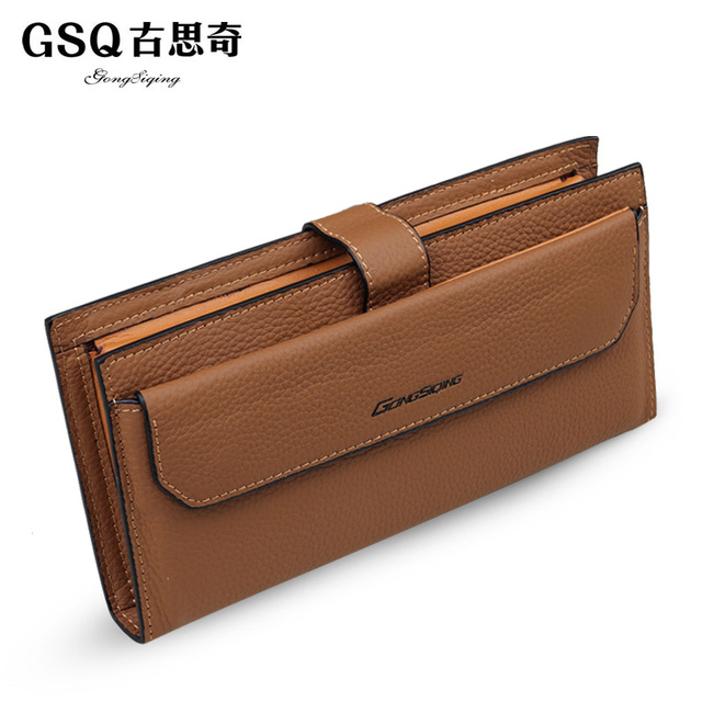 Gsq autumn the trend of male commercial clutch cowhide genuine leather day clutch bag hand clip