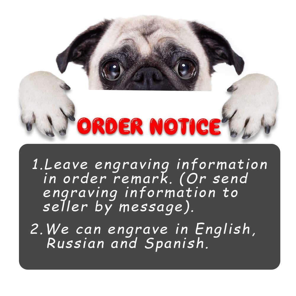 Collier d'étiquette de chien personnalisé collier de plaque signalétique de chiot personnalisé en Nylon gravé colliers d'identification de chien de chat réglable pour les chiens de taille moyenne