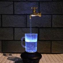 Robinet magique lampe robinets suspendus jaune moulage par Injection LED ornements décoratifs 220V plastique Portable Durable ameublement