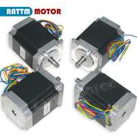 EU Delivery!! 4PCS Nema23 CNC Stepper motor 270 Oz-in/76mm/3A stepping motor Embroidery 3D Printer Router Machine