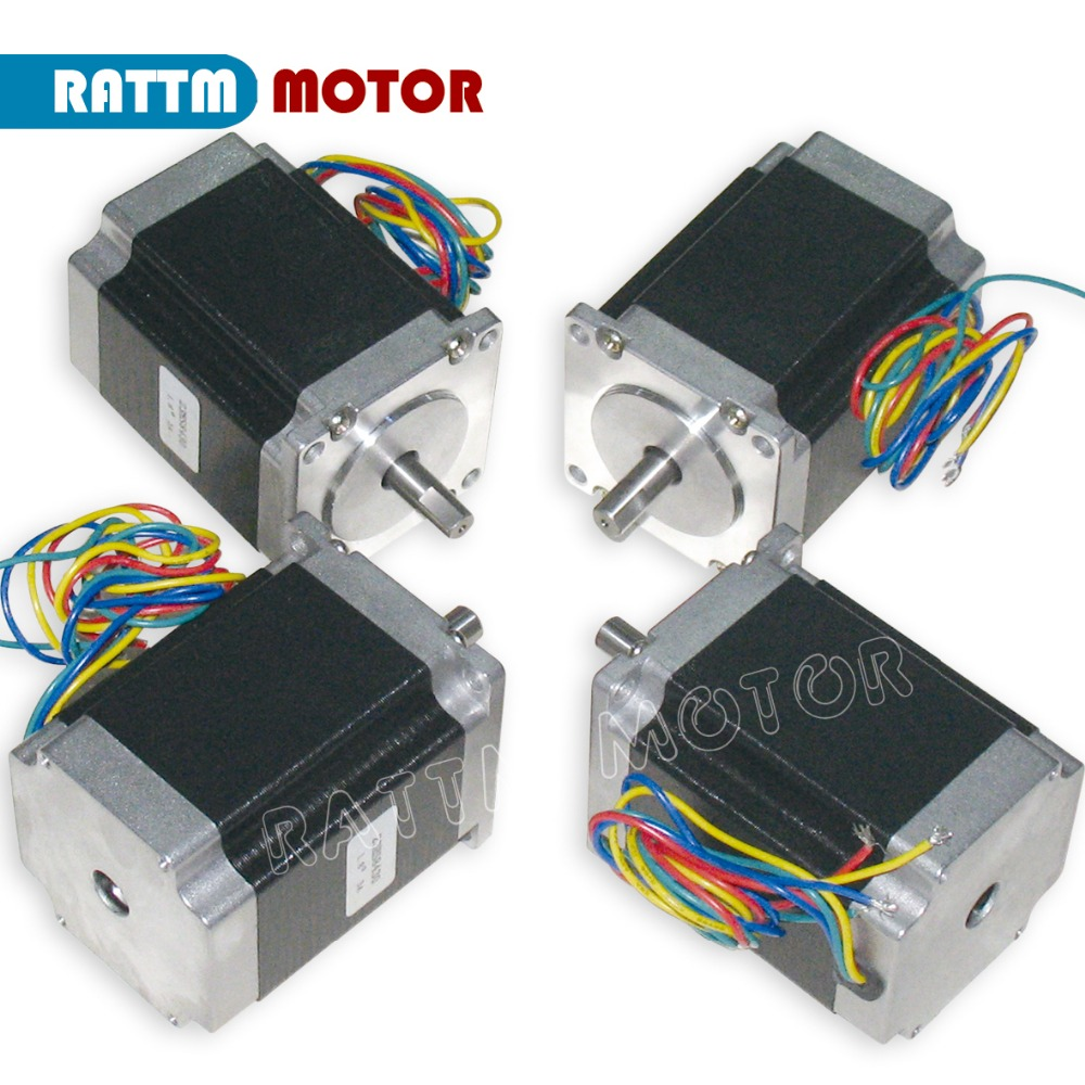 EU Delivery No tax!! 4PCS Nema23 CNC Stepper motor 270 Oz-in/76mm/3A stepping motor Embroidery 3D Printer Router Machine nema23 geared stepping motor ratio 50 1 planetary gear stepper motor l76mm 3a 1 8nm 4leads for cnc router