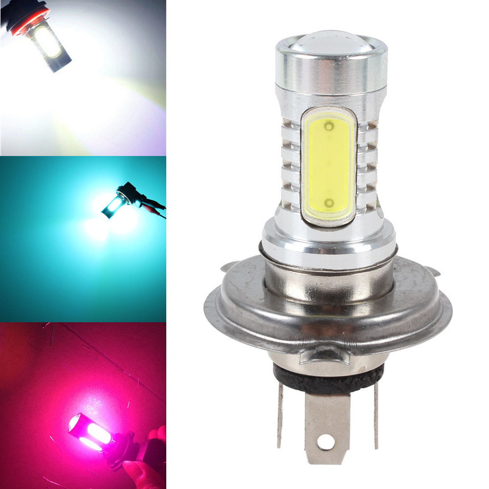 HIGH POWER H4 9003 HB2 7.5W WHITE FOG DRIVING HIGH LOW BEAM 5 COB LED LIGHT BULB LAMP RED AMBER ICE BLUE PINK car cob led h7 bulb fog light parking lamp bulbs driving foglight 7 5w drl 2pcs amber yellow white red ice blue