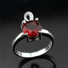 2017 vintage jewelry exquisite 925 silver inlaid crystal ring Modern beautiful ring for the female charm