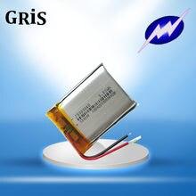 Bateria sadia do cartão da bateria mp3 da bateria do instrumento pequeno de 3.7 v 803040083040 1100mah