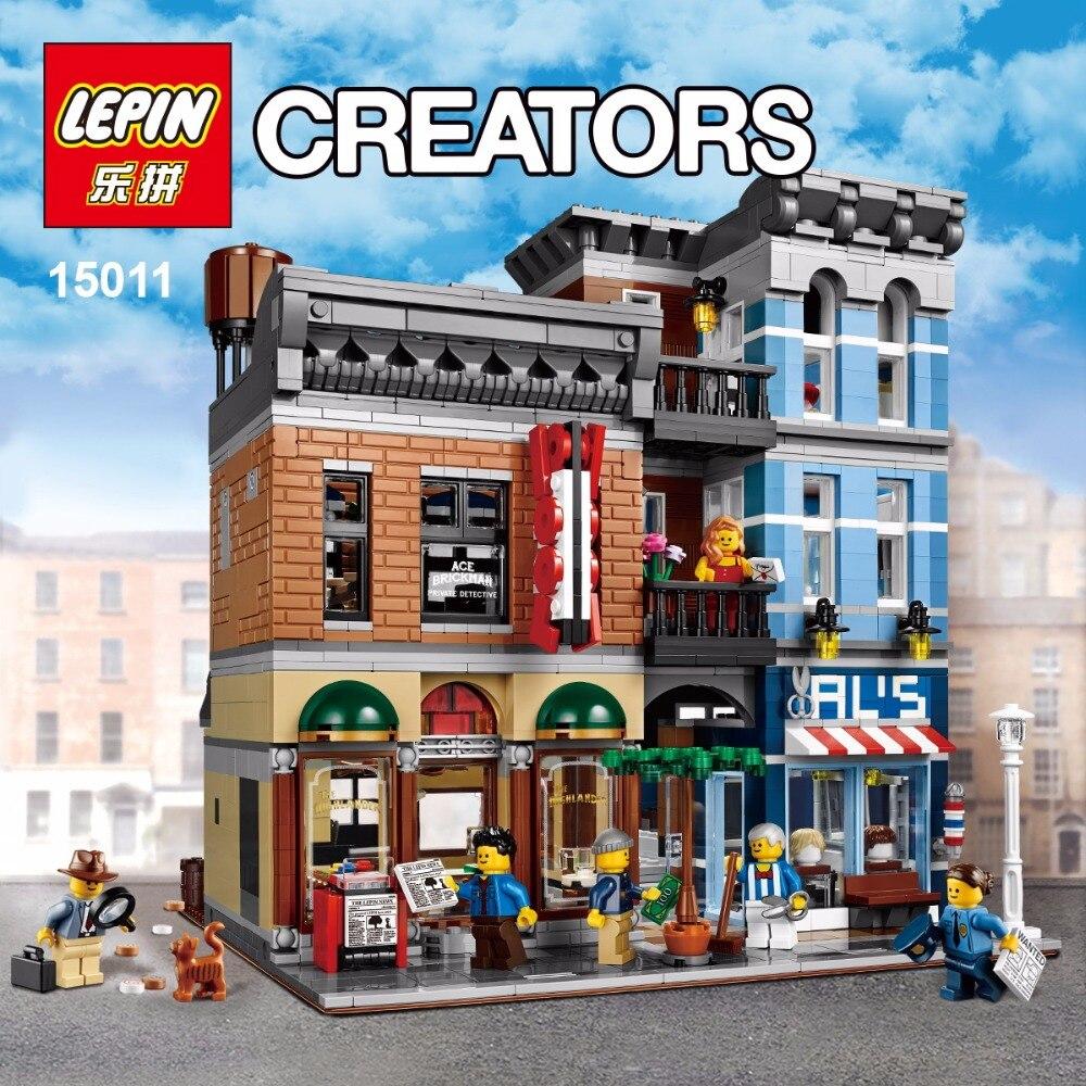 Lepin 15011 Building Series The Detective's Office Set Avengers Set Assemble Building Blocks for Educational Children Toys 10197 72pcs educational building blocks set