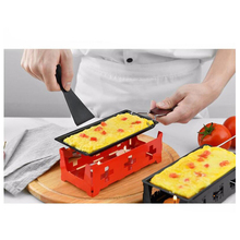 Мини антипригарное Сырное Фондю набор деревянная ручка/стальная ручка противень, пластиковая лопатка, плита, Свеча нагревания сыра сковорода для яиц