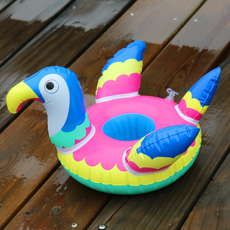Inflatable parrot drink floats Pool Party drink floats Inflatable parrot cup holder Pool Float Cup seat women swimming Pool Toys